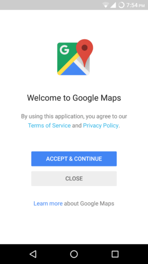 google maps get started