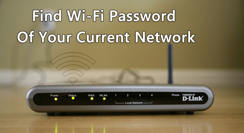 find wifi password of own network
