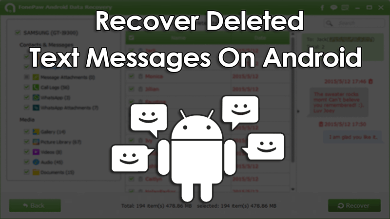 trick to recover deleted text messages in android device