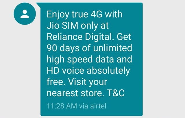 Show any 4G Enabled Smartphone & Get Free JIO 4G Sim Card