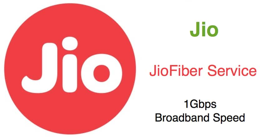 Reliance Jio Broadband Plans starts at Rs.500 per Month for 600GB data