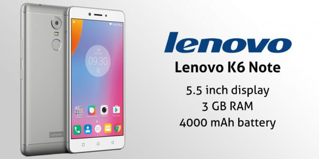 Lenovo launched K6 Note in India : Full phone specifications