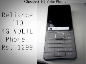 First Look of Jio's Cheapest 4g VoLTE Phone
