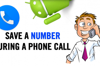 save contact during the phone call android